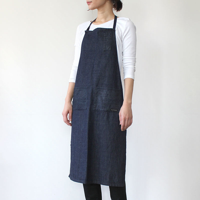 【直営店限定】4POCKET APRON DENIM_INDIGO