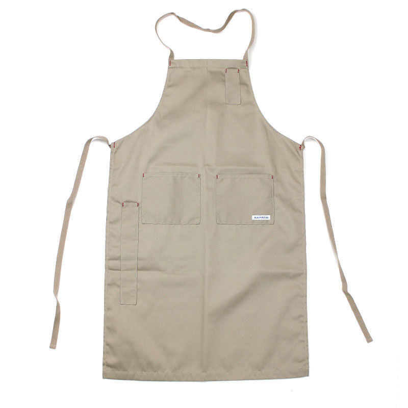 NPBL_4POCKET FULL APRON_BEIGE