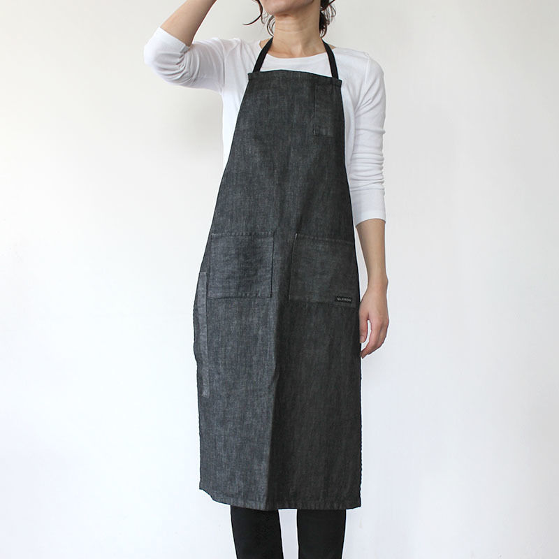 【直営店限定】4POCKET APRON DENIM_BLACK