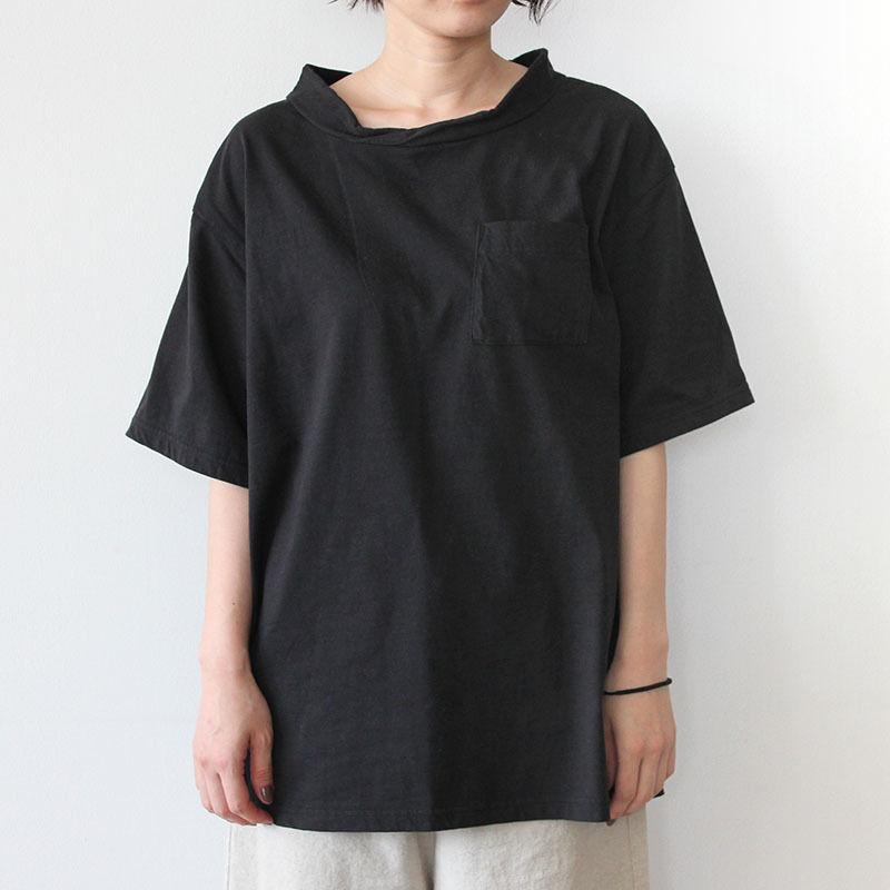 DOUBLE NECK T-SHIRT_BLACK