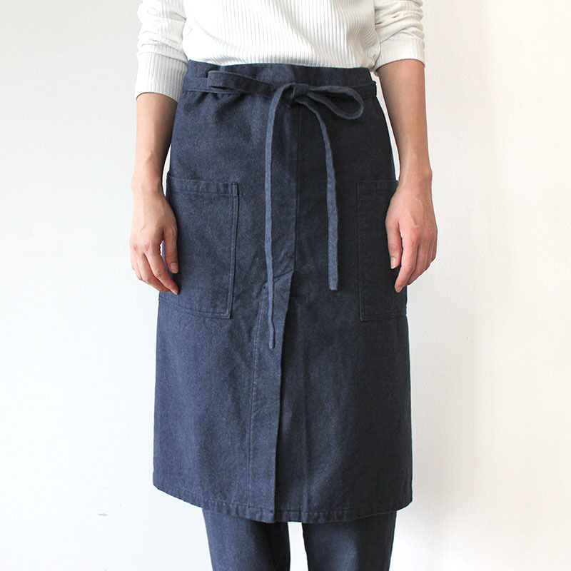 LONG SALON APRON_NAVY