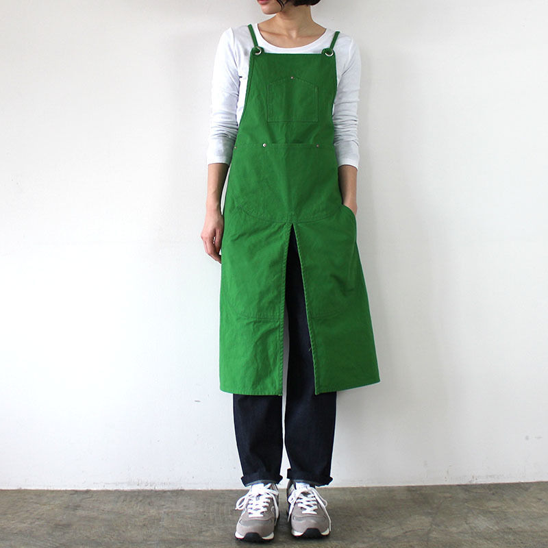 SPLIT APRON 9S_GREEN