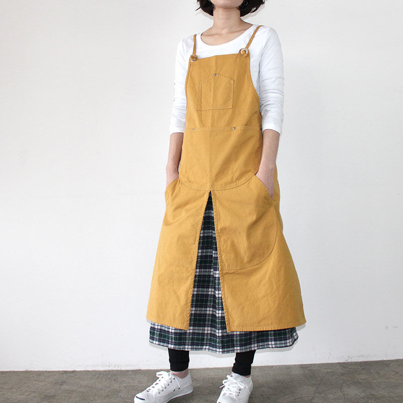 SPLIT APRON 9S_YELLOW