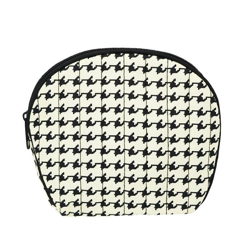 ナラヤ(NaRaYa) たっぷり収納 シェル型 コスメポーチ(化粧ポーチ)・千鳥 (NB-83)