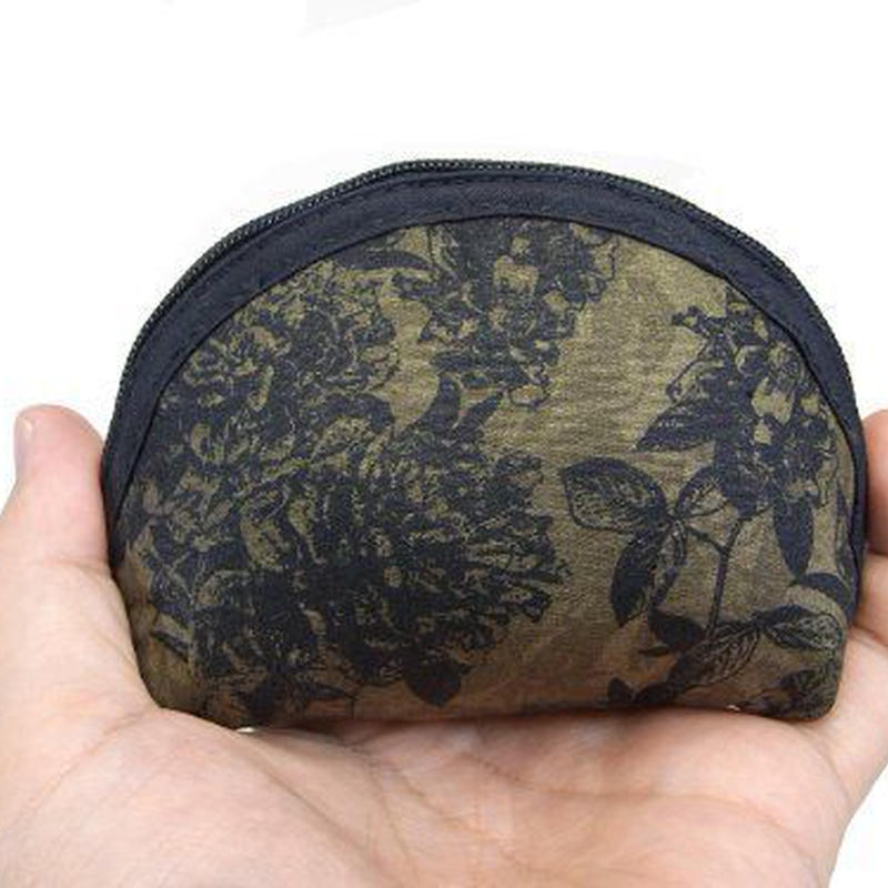 NaRaYa(ナラヤ) 手のひらシェル型ミニポーチ・モダンフラワー (NB-187)