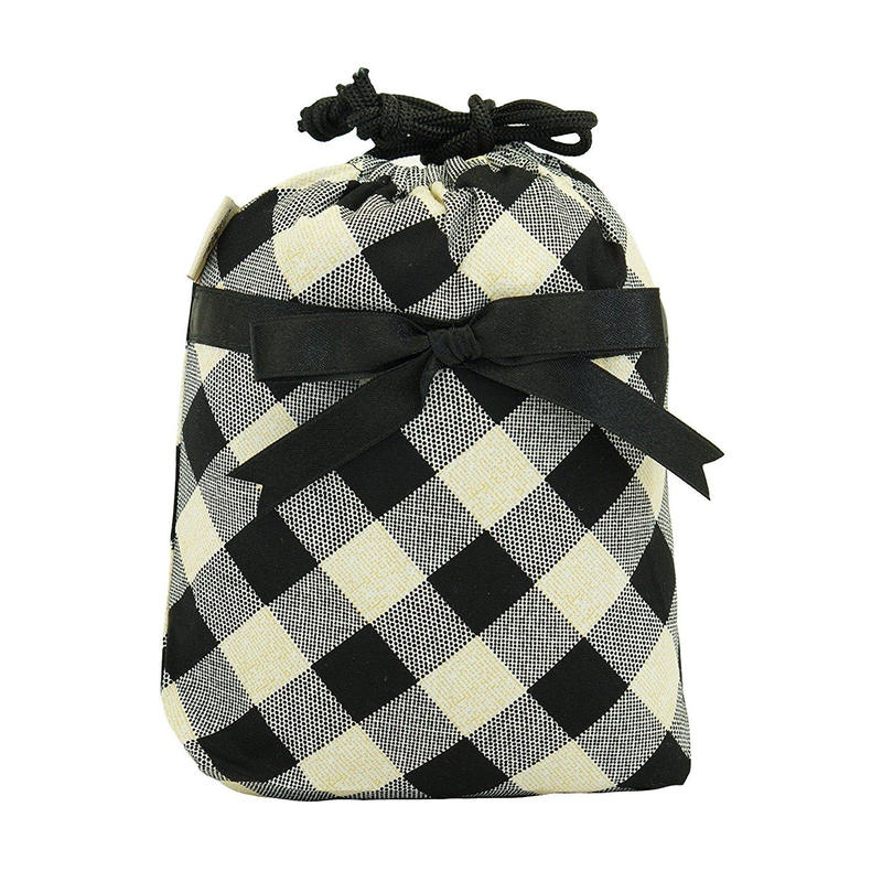 NaRaYa(ナラヤ) 巾着袋ポーチ(ランジェリーポーチ トラベルポーチ)・ファンシーチェック (NB-258/S)