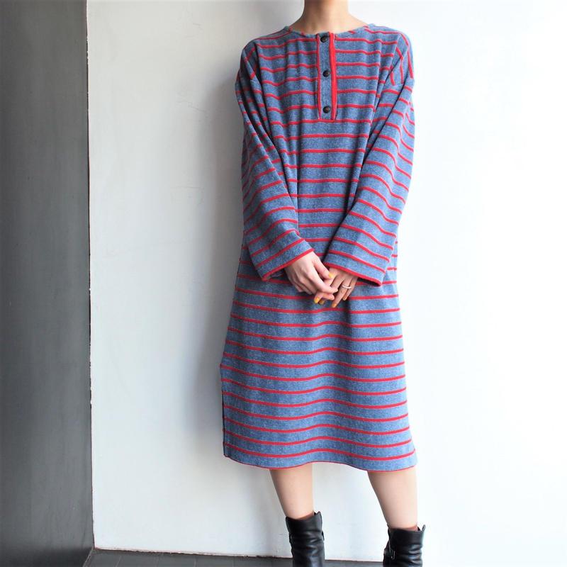 Pile fabric border dress