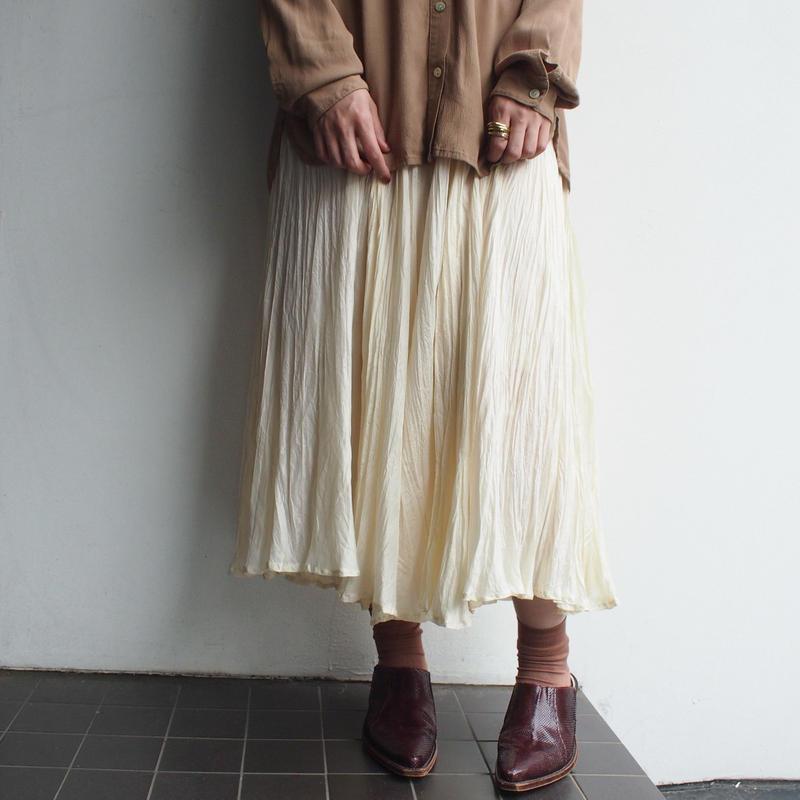 Ecru Silk skirt
