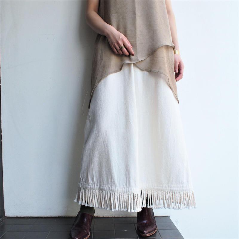 Made in USA Cotton Fringe  skirt