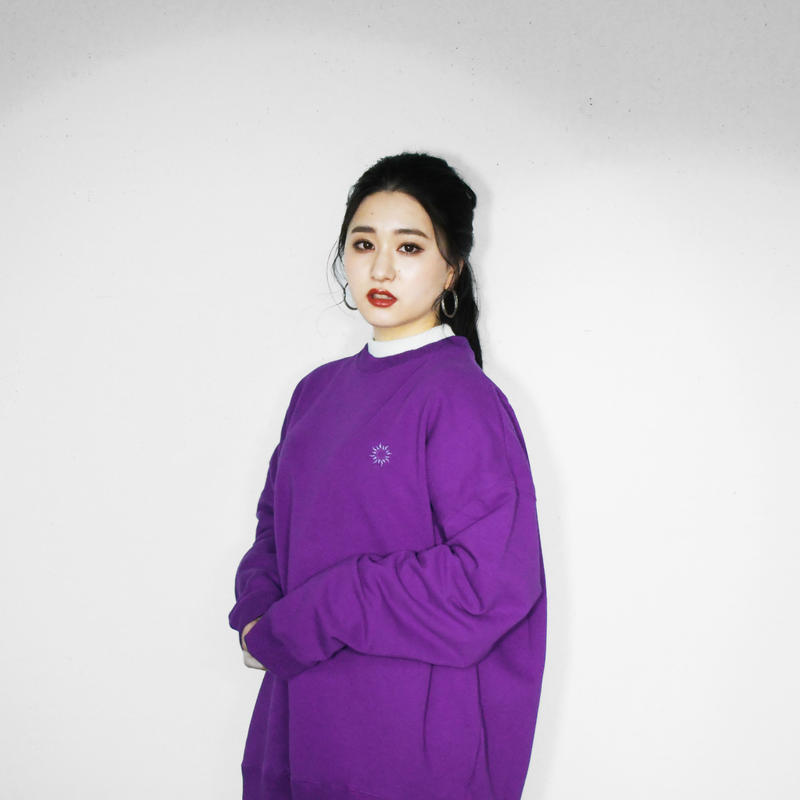 Big Silhouette Sweat Trainer Purple
