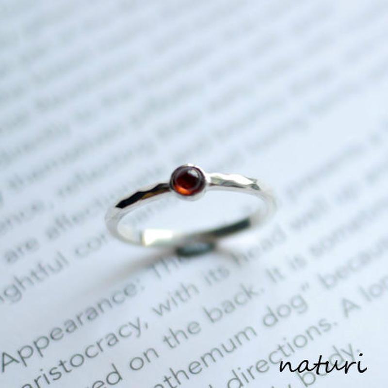 【tronc】sv925 garnet  ring
