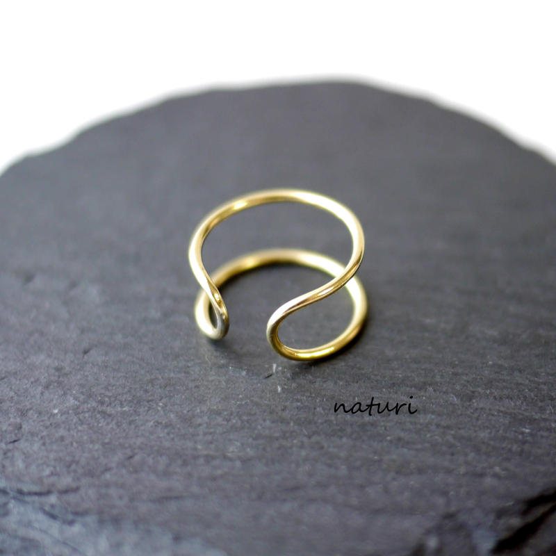 【luna】brass moon ring