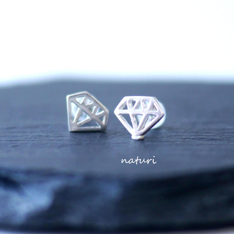 【diamante】sv925 diamond pierce (2pcs)