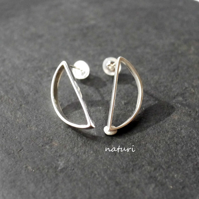 【luna】sv925 moon pierce Ⅲ (2pcs)