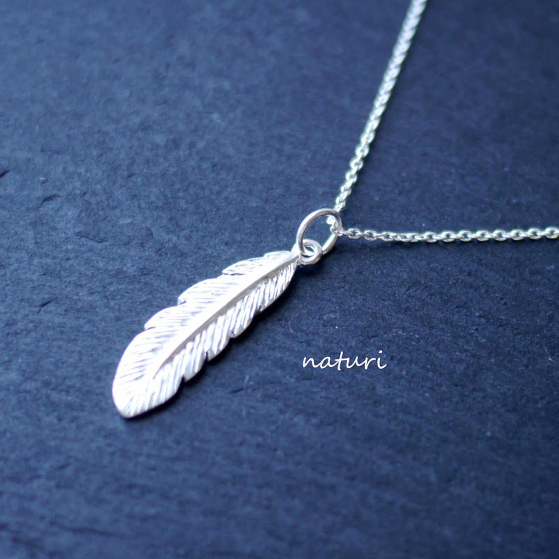 【plume】sv925 feather nacklace