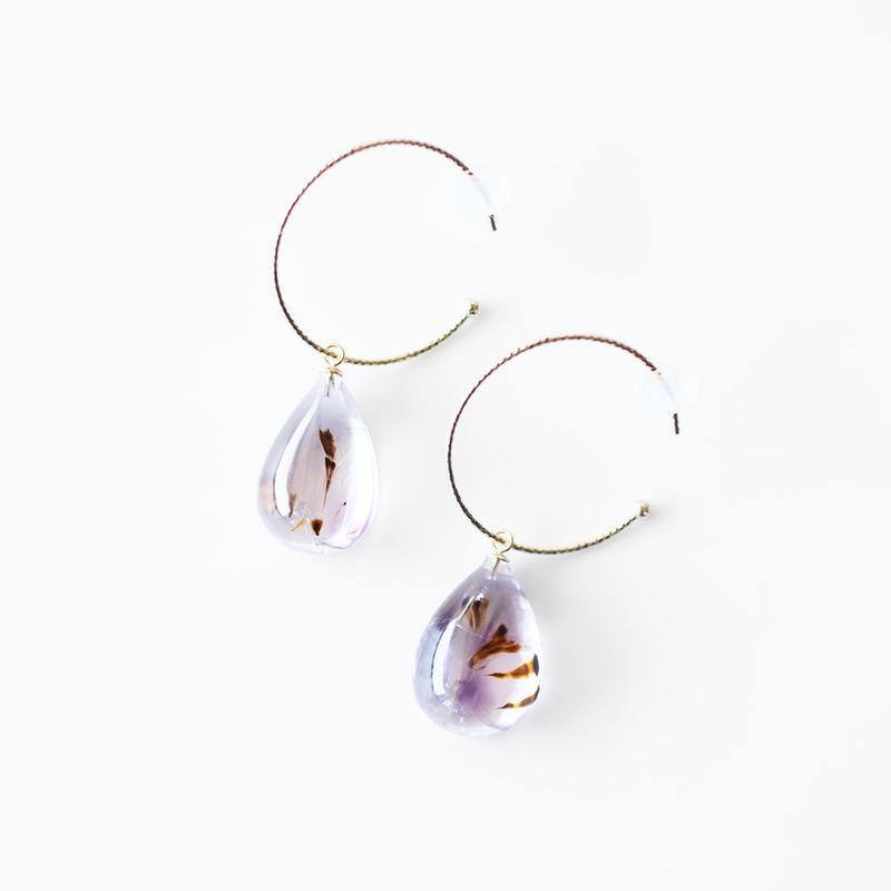 天然石フープピアス/カコクセナイト