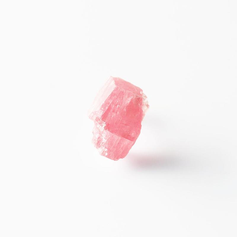 片耳ピアス/ロードクロサイト原石