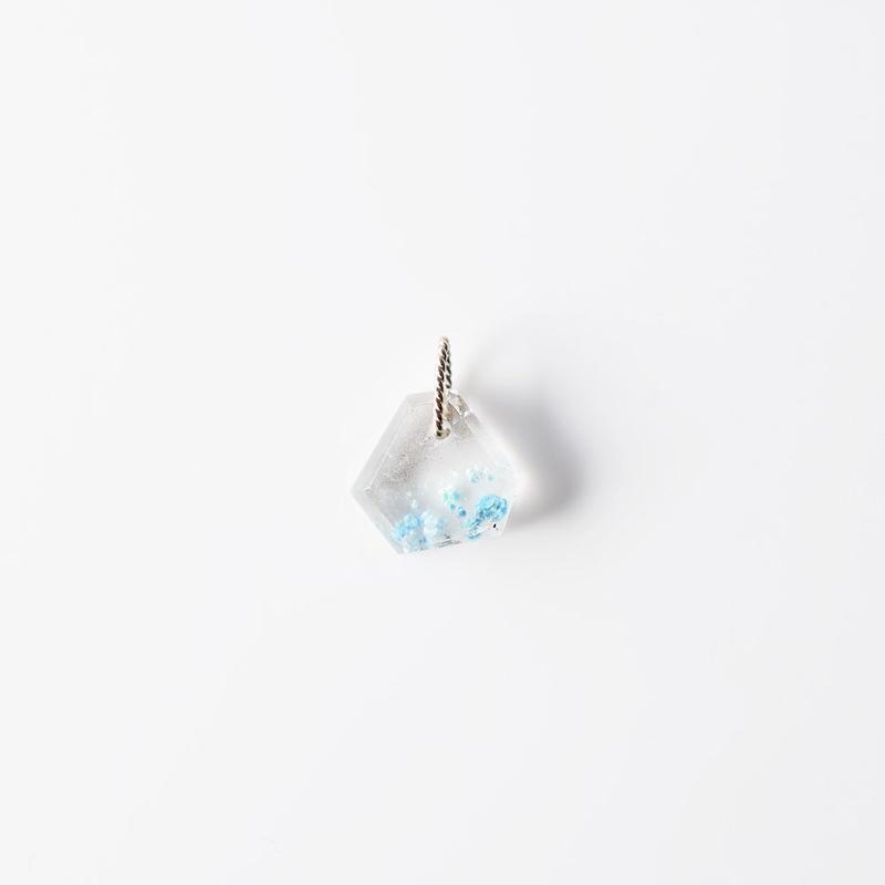 天然石チャーム/ギラライトインクオーツ
