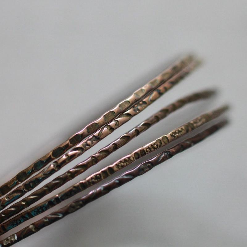 E837 真鍮バングル 5個 18cm