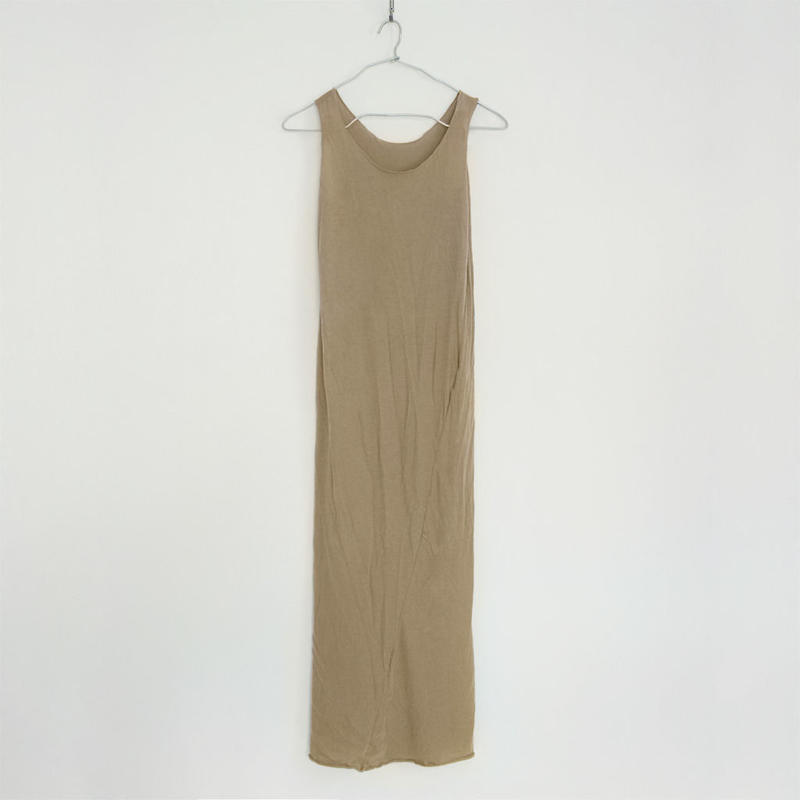 """PITATTO"" TANKTOP ONE PIECE / GINGER BEIGE"