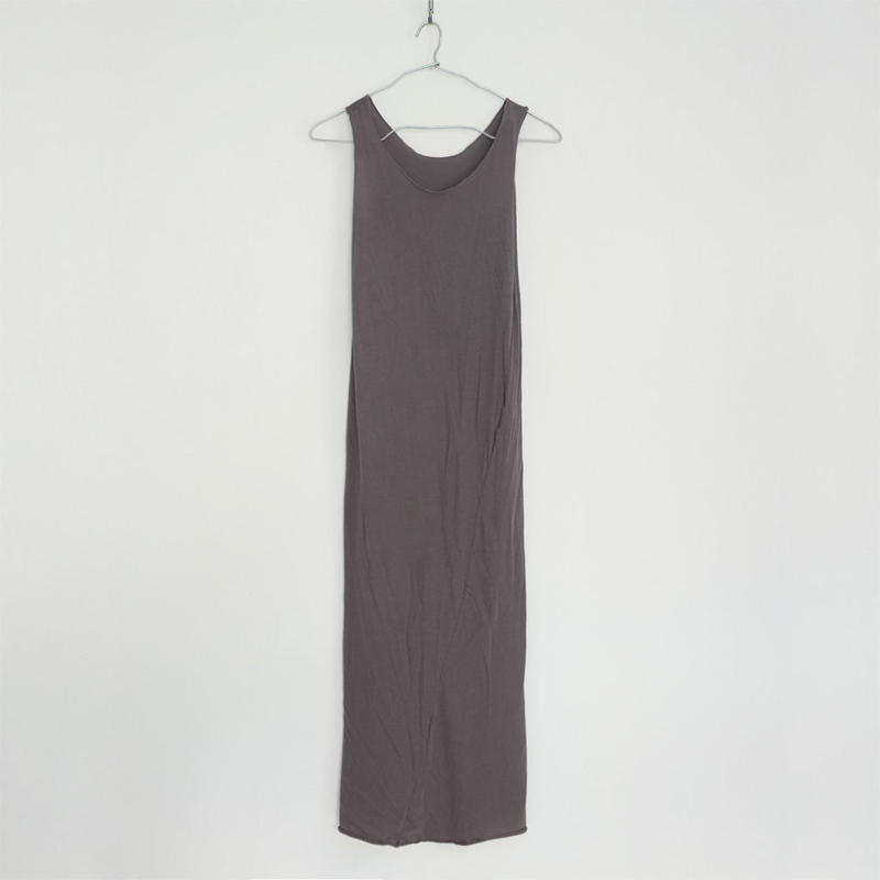 """PITATTO"" TANKTOP ONE PIECE / CHARCOAL GRAY"