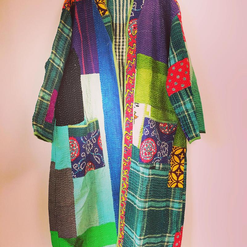 訳ありsale! vintage kantha kimono jacket ◆