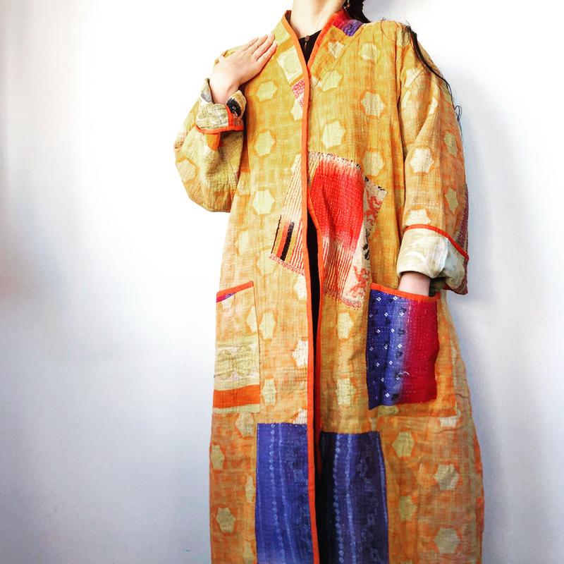 薄地 vintage kantha kimono jacket