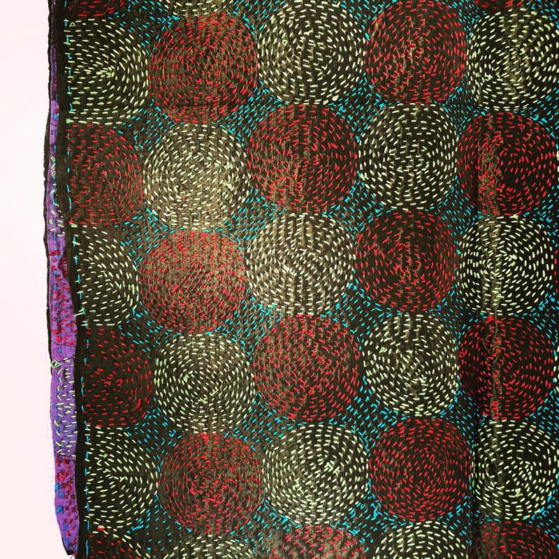 kantha circle small shawl