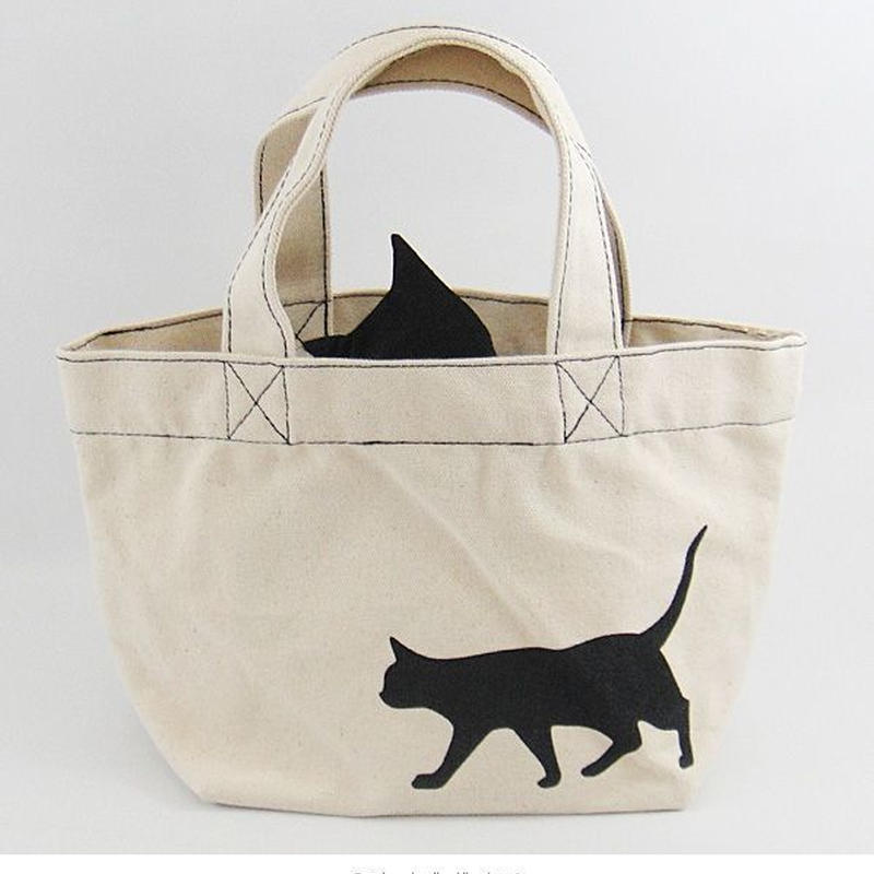 猫ミニトートバッグ お散歩 ※寄付金込