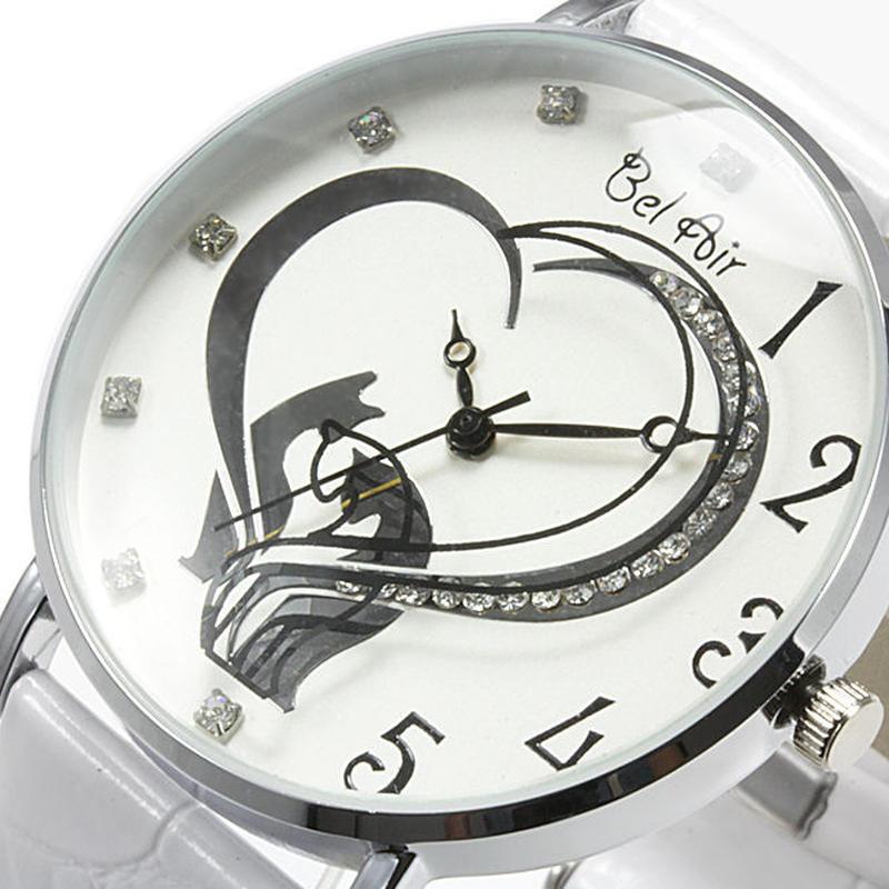 【レディース仕様】★ハートモチーフ レディース腕時計