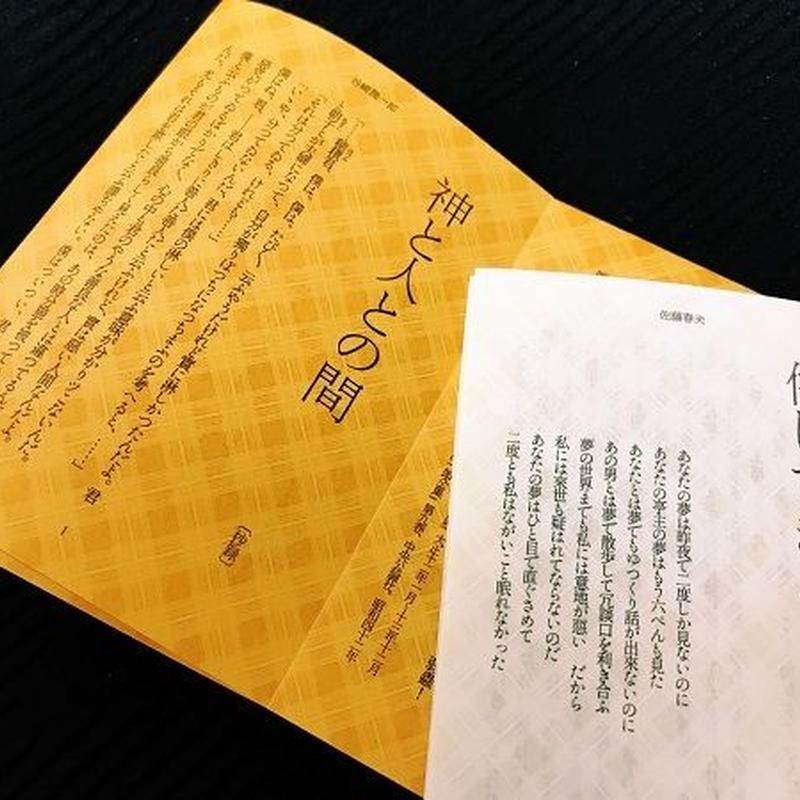 文豪くみたて文庫#01 春夫×谷崎「侘しすぎる/神と人との間」特装版