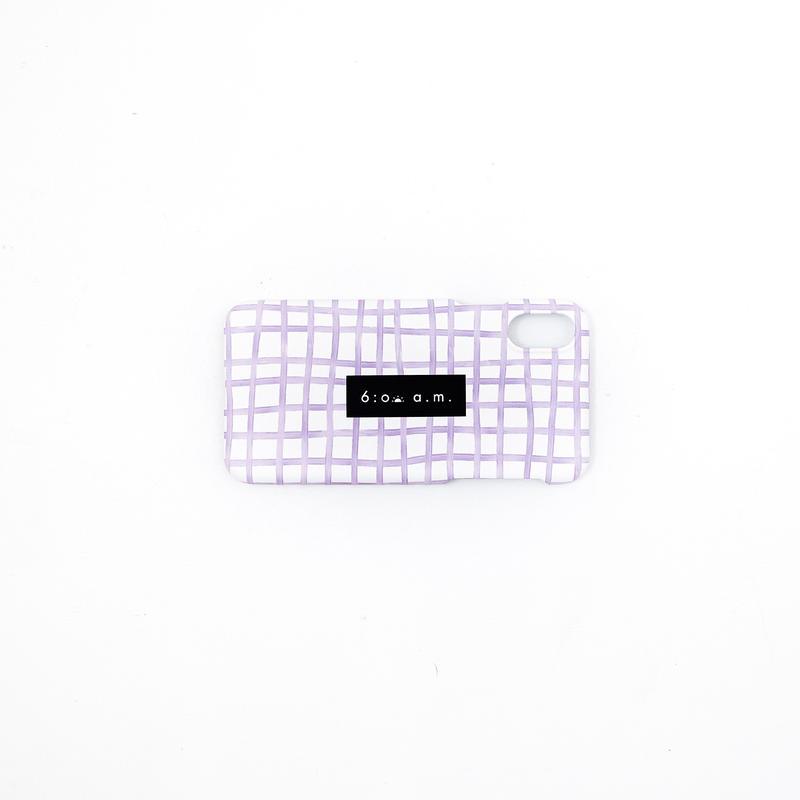 purple check case