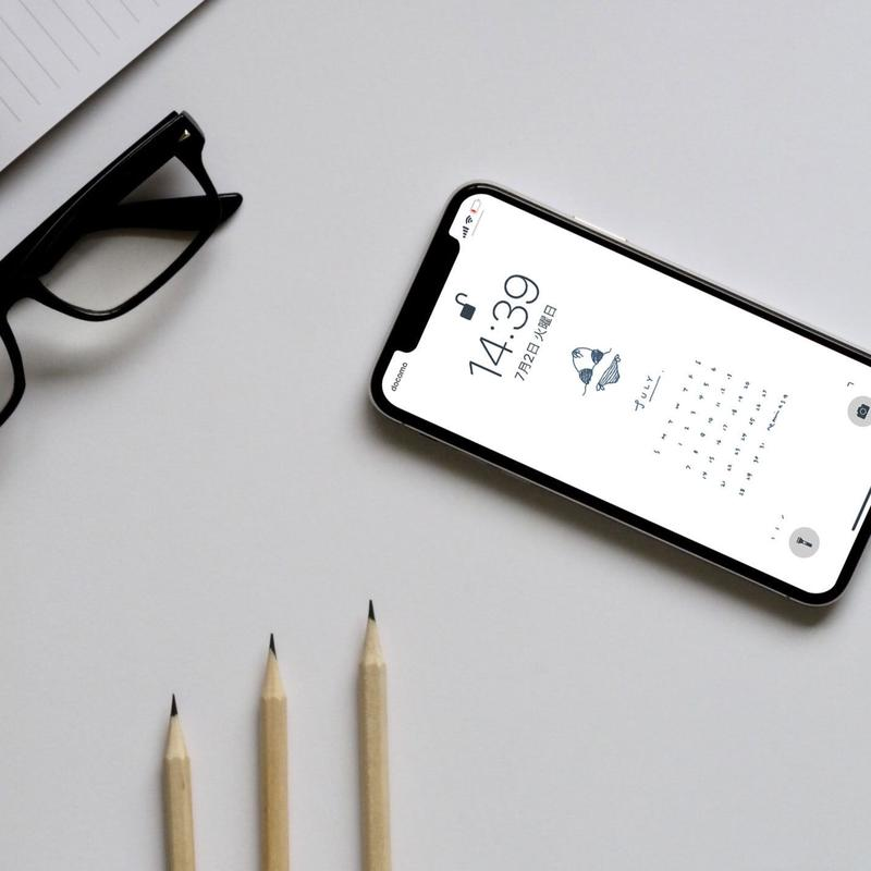 2019 JUL〈 iPhone X  calendar 〉