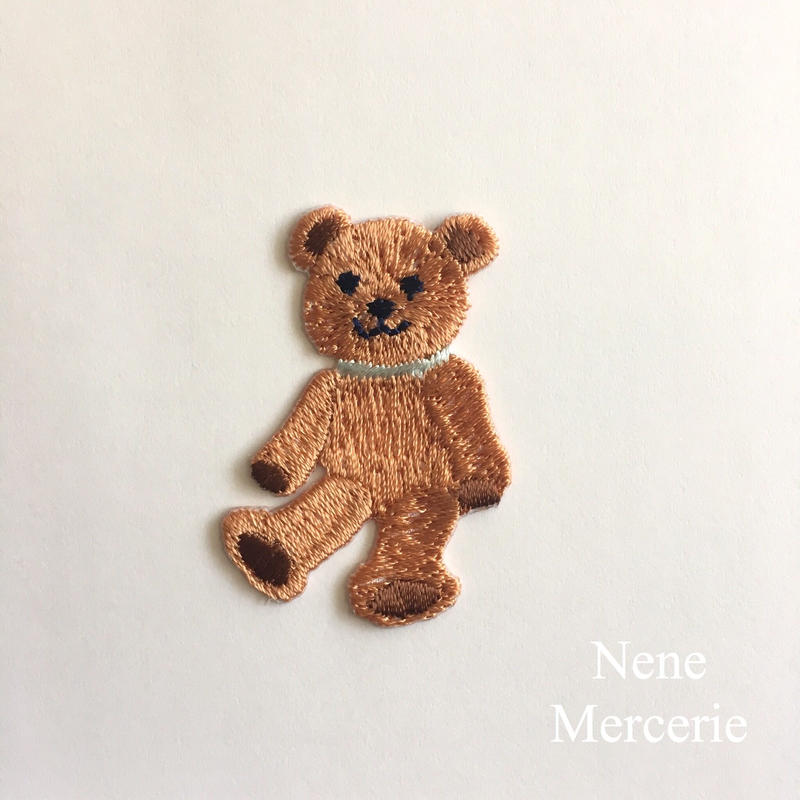 クマのLouis(ルイ)くん/刺繍アイロンワッペン