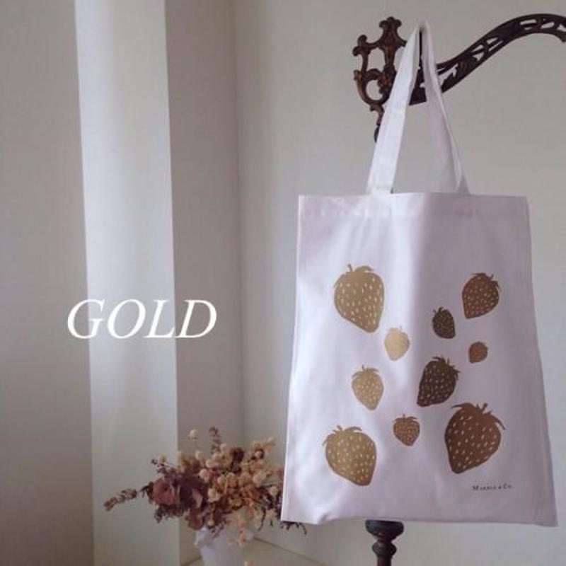 MARBLE & Co. いちごのバッグ /ゴールド/シルバー