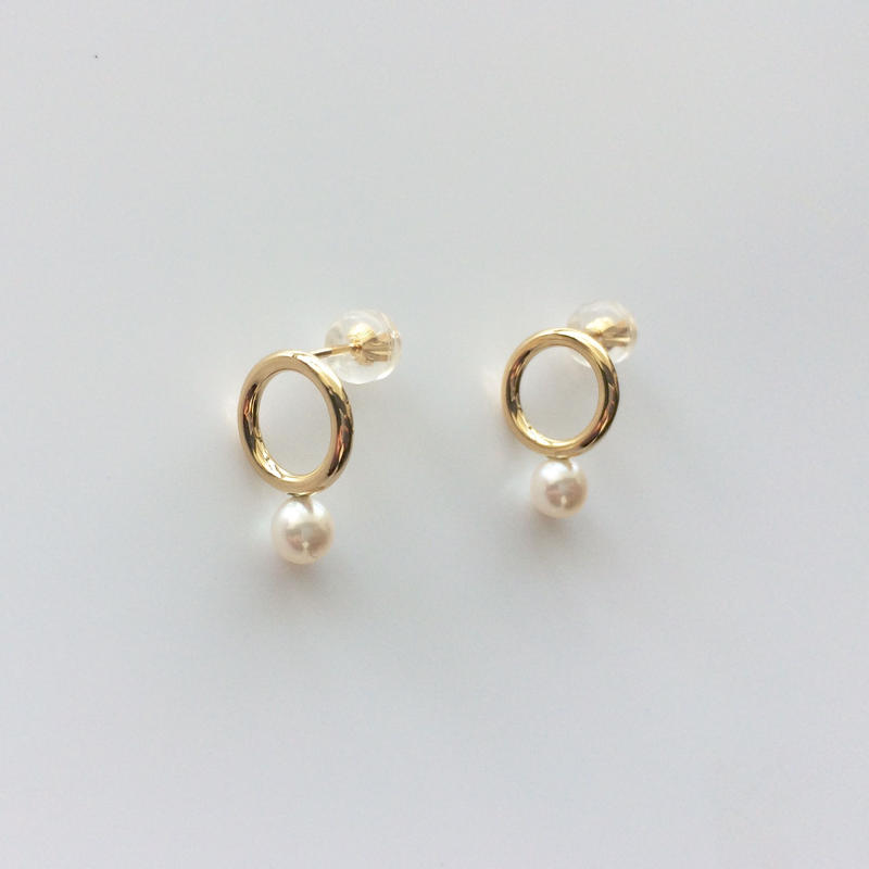 Gold&Pearlピアス