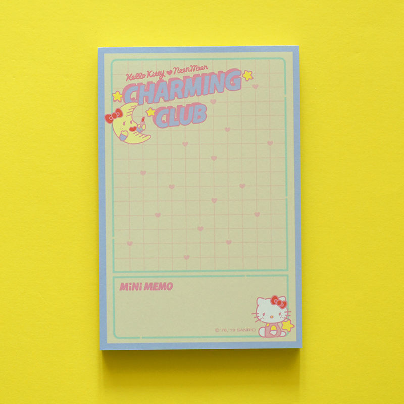 HELLO KITTY CHARMING CLUB Memo Pad