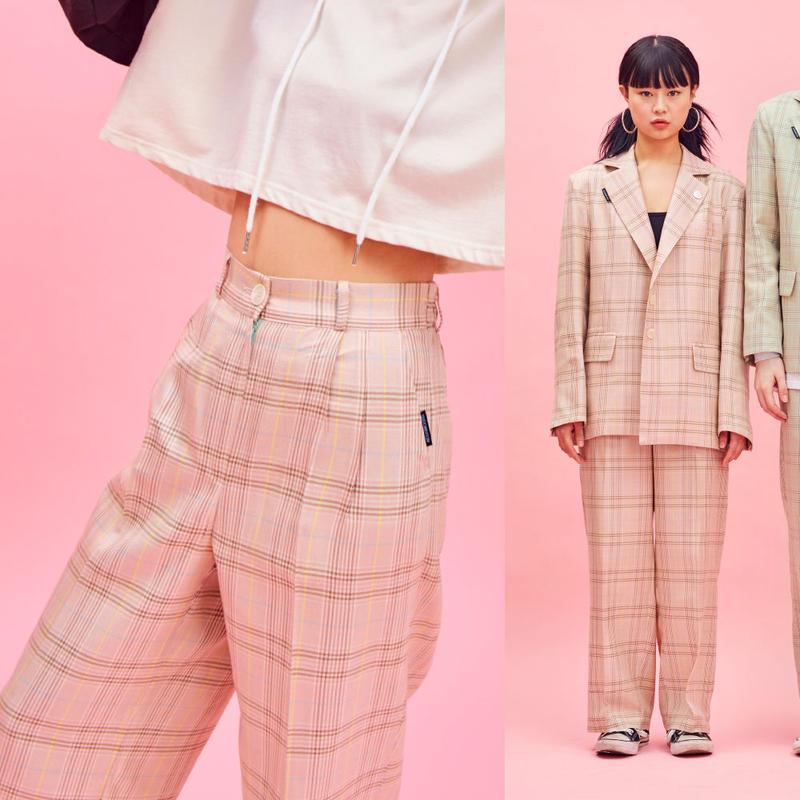 19S Check Pants (Pink)