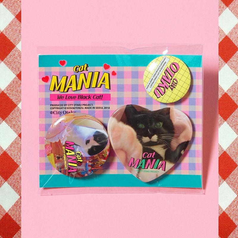 [CITY OTAKU Project] Cat Mania 3Pin Buttons
