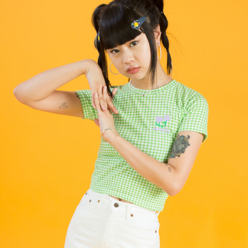 19SM Check 1/2 T-shirt (Green)