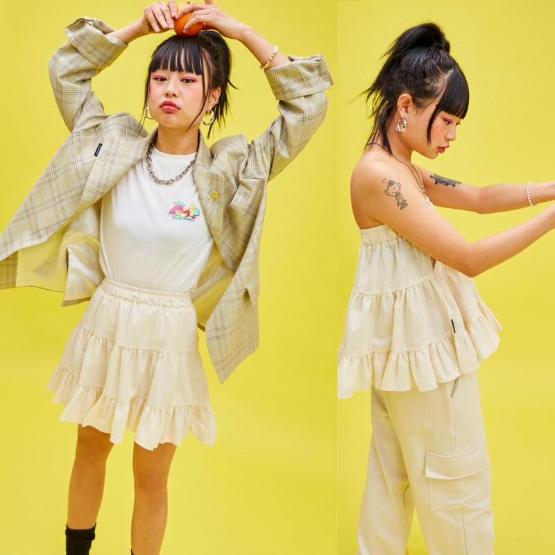 19S Cancan Skirt (Ivory)