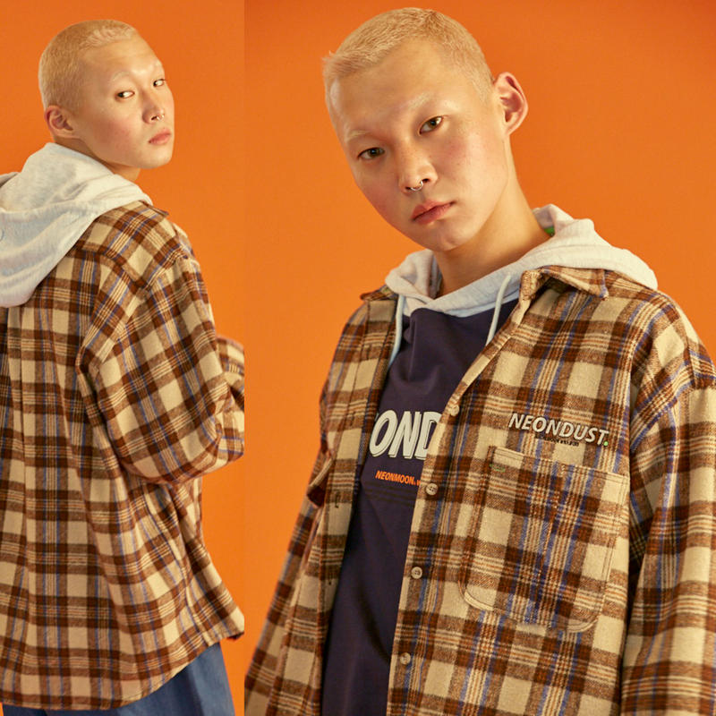 [ND] 18W Check Shirt (Brown)