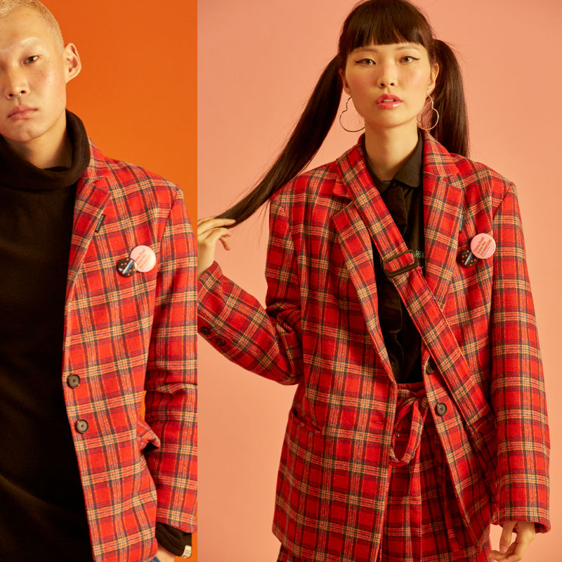 Check Jacket (Red)
