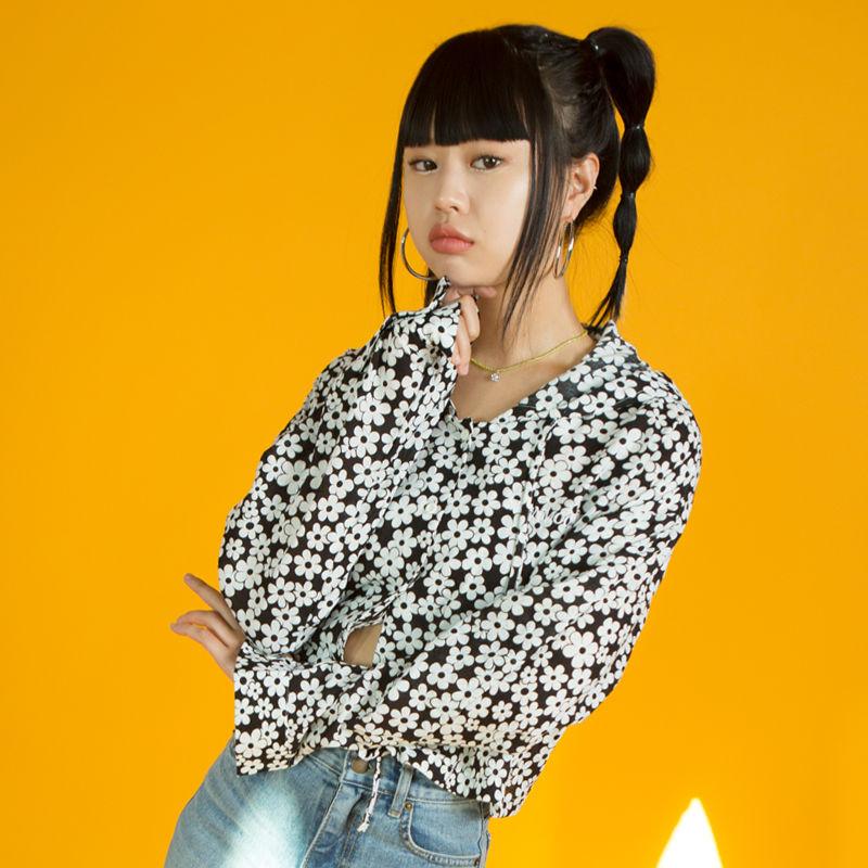19SM Crop Hood Shirt (Flower)