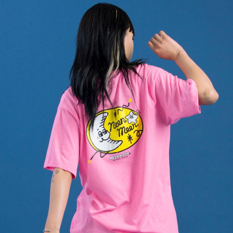 Logo 1/2 T-shirt (Neon Pink)