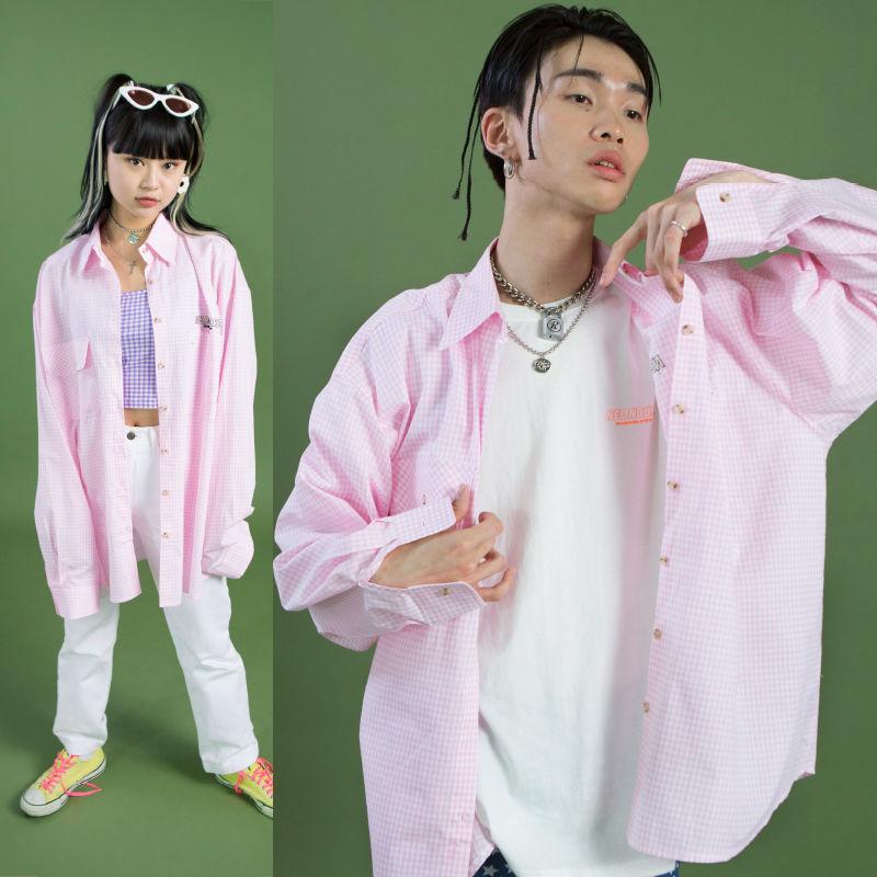 [ND] 19SM Check Shirt (Pink)