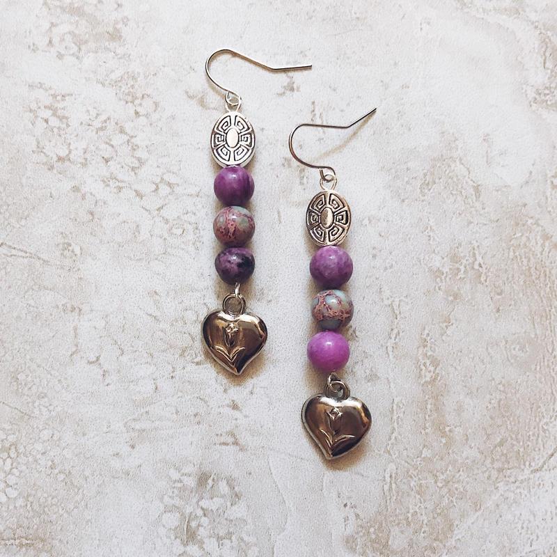 purple tulip heart pierce