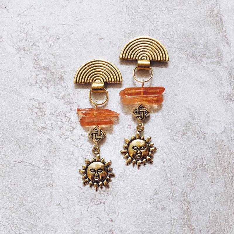 native orange crystal sunny pierce