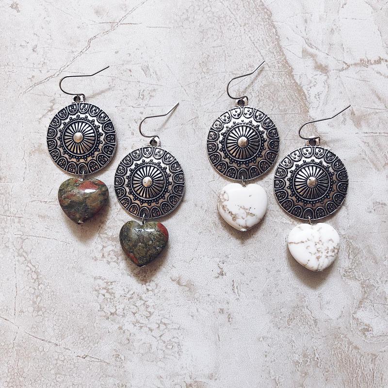 native big heart stone  pierce