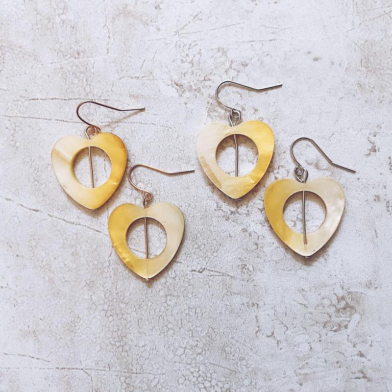 yellow shell simple pierce